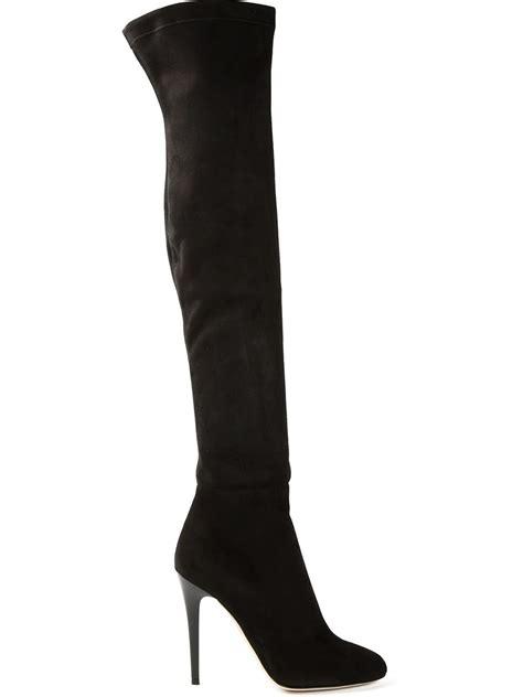 jimmy choo turner thigh high boots in black lyst