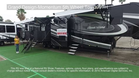 Fifth Wheel Floor Plans Grand Design Momentum 5th Wheel Toy 399th Youtube