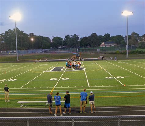 2015 mass shriners all star football energy efficient lights installed at sabourin field in
