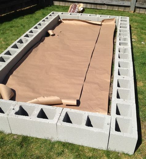 how to build a cinder block raised garden bed gardens