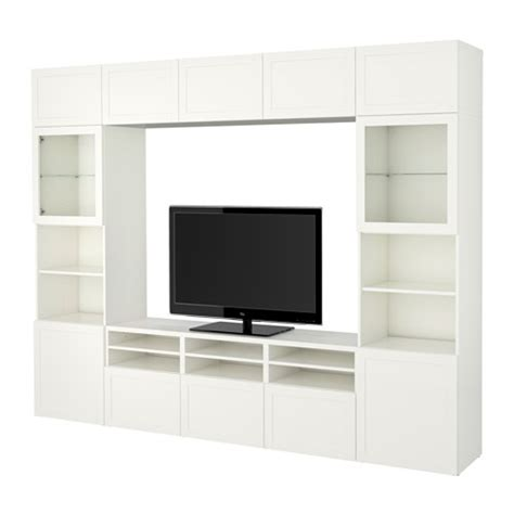 besta storage combination with glass doors best 197 tv storage combination glass doors hanviken