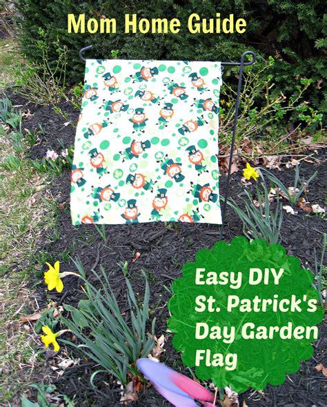 diy garden flag  st patricks day