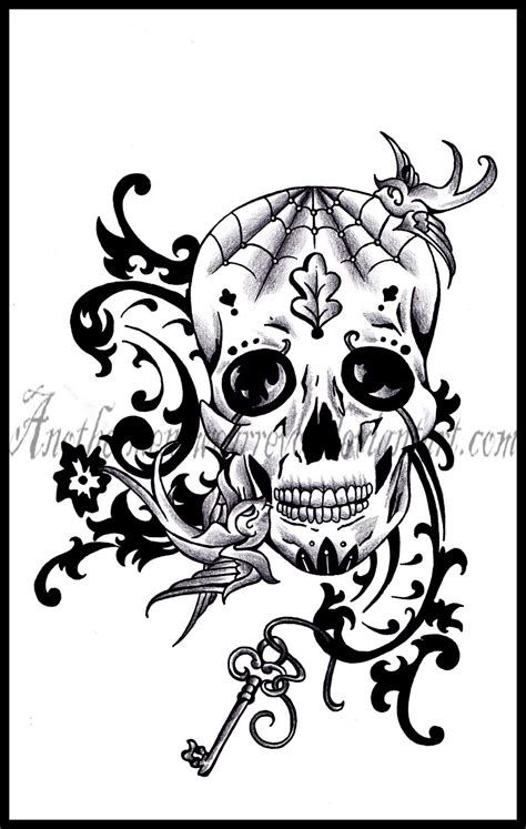 old sugar skull by dabsofkiwi on deviantart