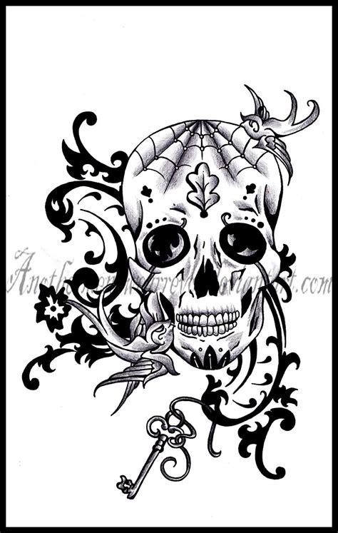 old sugar skull by dabsofkiwi on deviantart