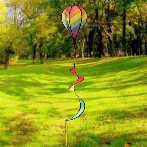 Garden Decor Wind Spinners with Colorful Grid Windsock Air Balloon Wind Spinner Garden Outdoor Decor Ebay