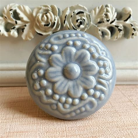Porcelain Cupboard Knobs by Mediterranean Sea Ceramic Cabinet Knob Drawer Pull Unique