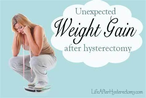 weight gain after hysterectomy can you avoid this