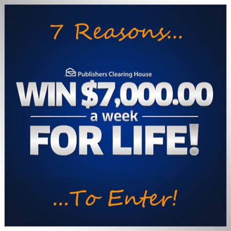 Pch Com Sweepstakes And Win - 7 reasons to enter to win 7 000 a week for life pch blog