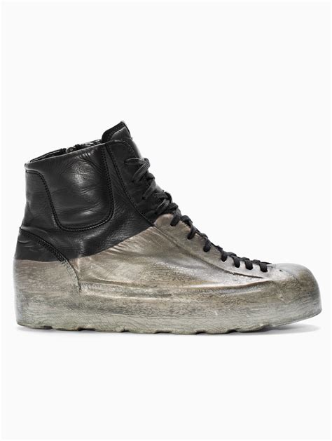 black bottom sneakers lyst oxs rubber soul high bottom sneakers in black for