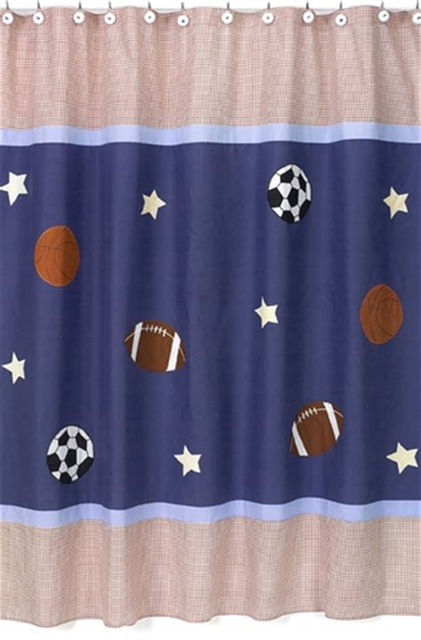 sports bathroom decor playball sports kids bathroom fabric bath shower curtain