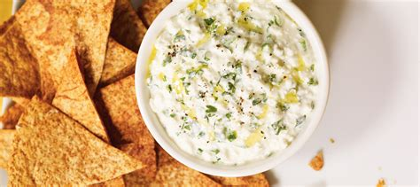cottage cheese dip nachos and cottage cheese dip recipe dairy goodness