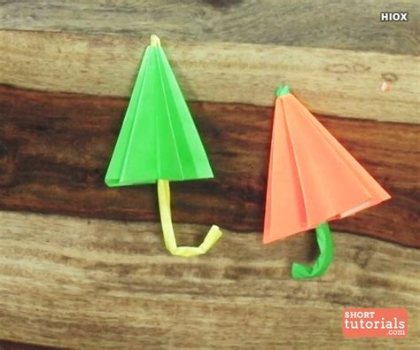 How To Make Origami Umbrella - how to make a paper umbrella origami step by step
