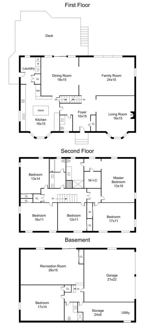 center colonial floor plan 1000 ideas about center colonial on