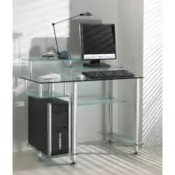 desk bureau verre transparent 7 plateaux achat