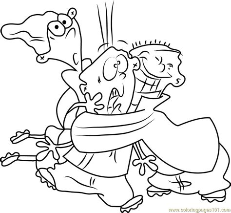 ed edd n eddy color page coloring pages for kids cartoon ed edd n eddy having fun coloring page free ed edd n