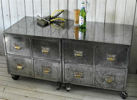 Vintage Industrial File Cabinet Pair Of Vintage Industrial Steel Bedside Filing Cabinet Home Barn Vintage