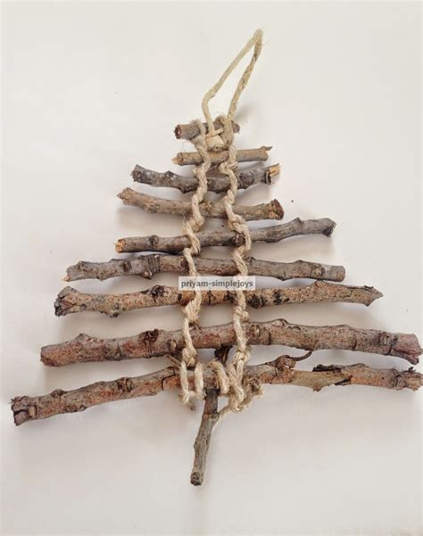 christmas tree made with twigs simplejoys twig rustic tree