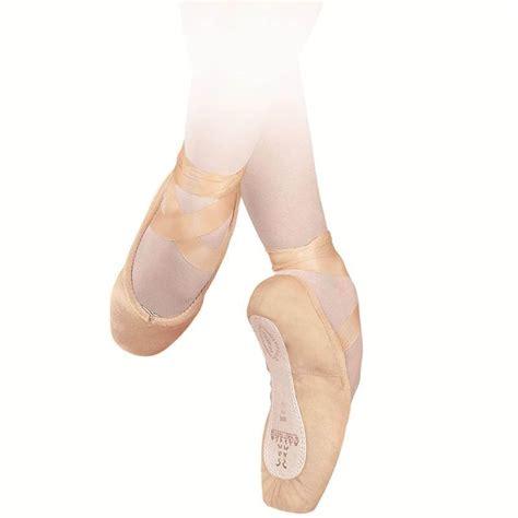 sansha recital canvas leather sole pointe shoes sha202c