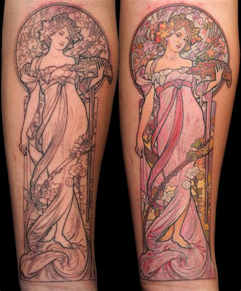 art tattoo nouveau on nouveau alphonse