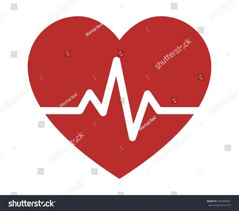 flat design icon heart heartbeat heart beat pulse flat icon stock vector