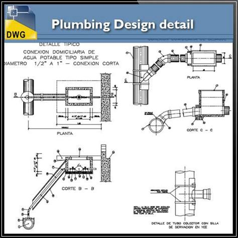 toilet layout dwg plumbing design in autocad dwg files cad design free