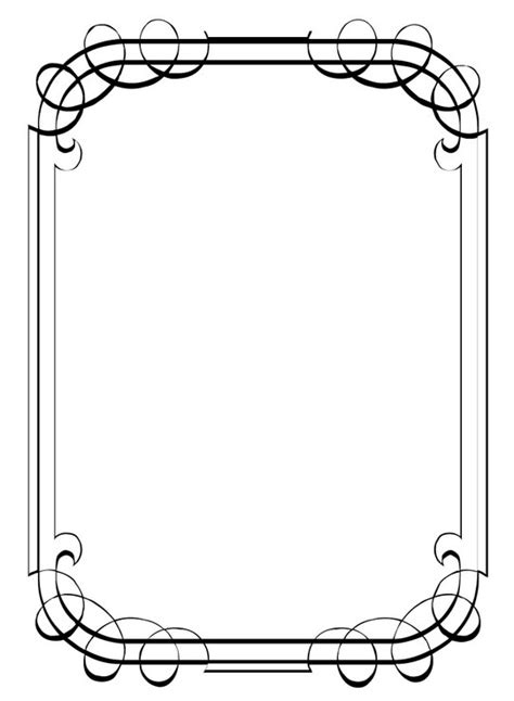 Blank Cards With Border Template by Simple Border Designs For Invitations Siyah Beyaz