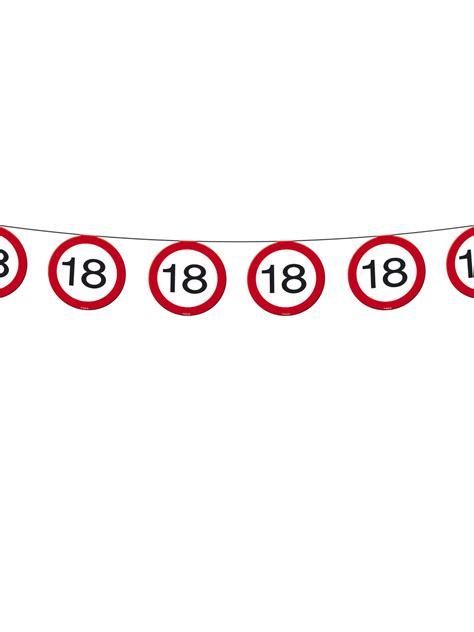 Girlande 18 Geburtstag by Wimpelkette 18 Geburtstag Deko Girlande Schwarz Rot