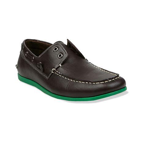 steve madden mens slippers steve madden gamer boat shoes in black for black blue