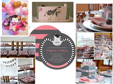 Pink Safari Baby Shower Theme by Zeolla D Zign Company Baby Shower Themes