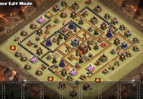 coc layout attack simulator top 60 best th10 base layouts war farming hybrid
