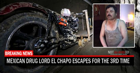 Escapes Again by Lord El Chapo Reportedly Escapes Again Through Same
