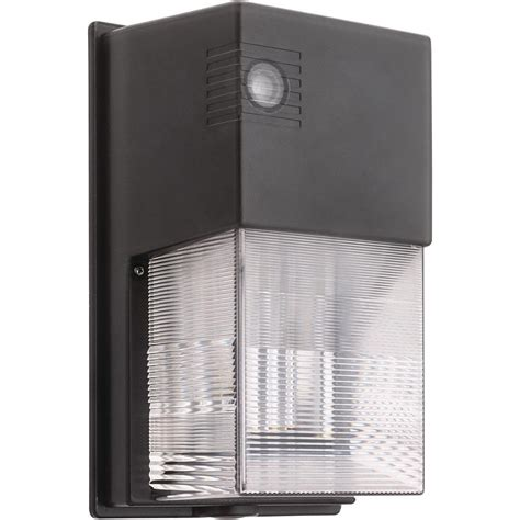 Lithonia Lighting Bronze Outdoor Integrated Led 5000k Wall Outdoor Led Dusk To Light