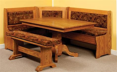 kitchen breakfast nook furniture amish traditional breakfast nook set with storage and
