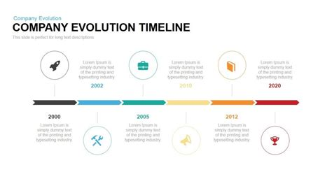 powerpoint templates for history presentations company evolution timeline powerpoint keynote template