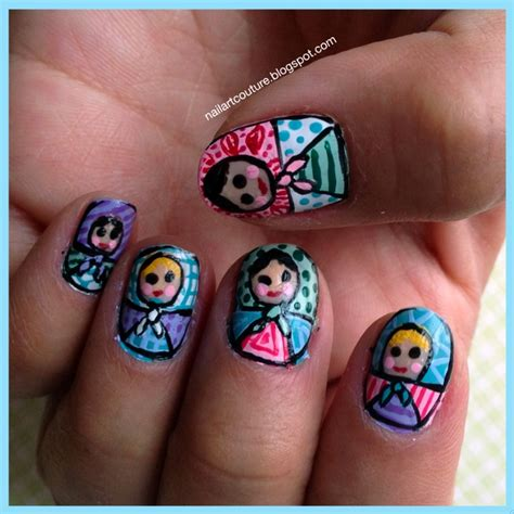 Russian Nail Art Tutorial | pin by jaina best on russian dolls pinterest