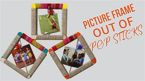 stick frames to wall diy wall hanging how to make popsicle stick photo frame