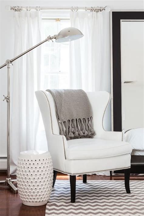 gray and white reading chair adore magazine bedrooms bedroom reading corner