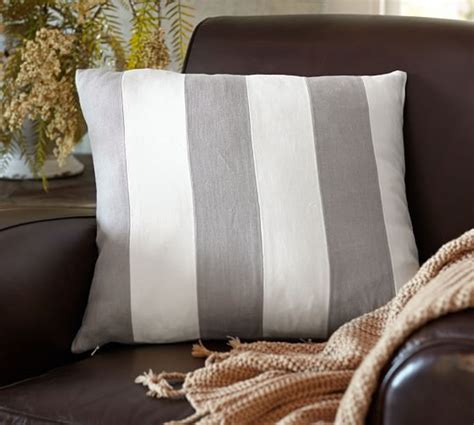 Pottery Barn Linen Pillow Covers by Pieced Textured Linen Pillow Cover Pottery Barn