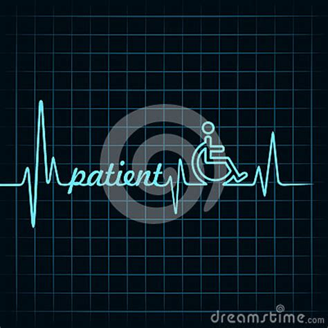 heartbeat  patient word  symbol stock images