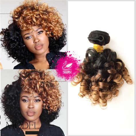 pictures of brazillian spiral weave hair ombre brazilian hair 1bundle ombre blonde hair weave 1b 4