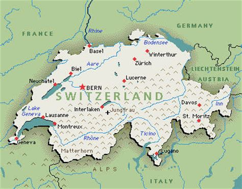 major cities in switzerland map switzerland travel guide blondie at worldz end