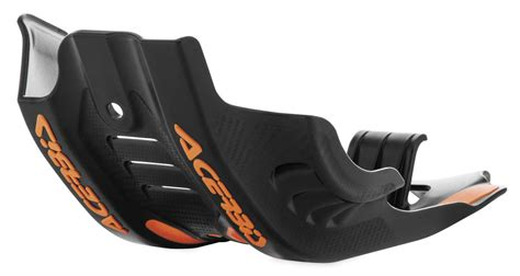Ktm Skid Plate Aomc Mx Acerbis Skid Plate W Linkage Protection Blk Org