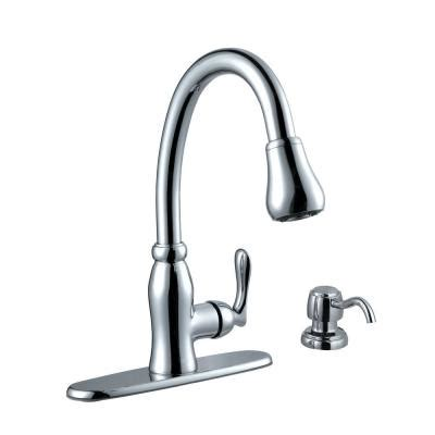glacier bay kitchen faucet diagram pavilion single handle pull sprayer kitchen faucet with soap dispenser in chrome