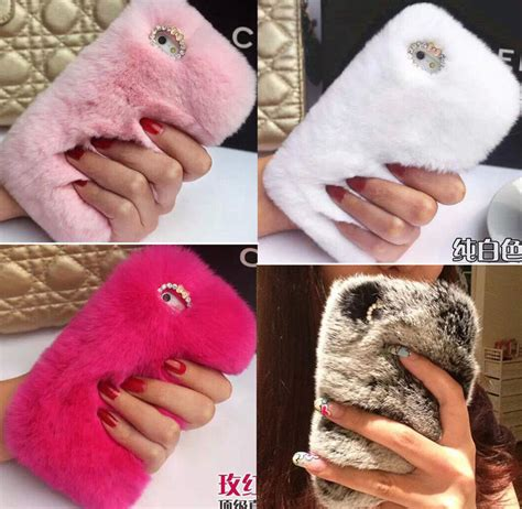 luxury bling rabbit fur warm soft cover