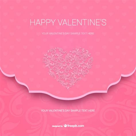 free valentines card templates happy s card template vector free