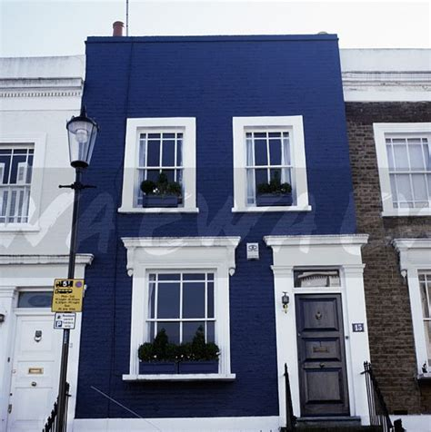 Painted Doors white painted window and door frmes of dark blue