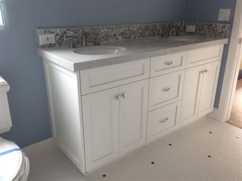 Shaker Style Bathroom Furniture Bathroom Vanity Shaker White Style Bathroom Los Angeles By Woodwork