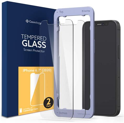 iphone  pro max screen protector caseology tempered
