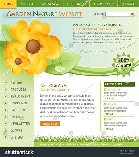 Gardening Websites A Green Nature Flower Web Template For A Garden