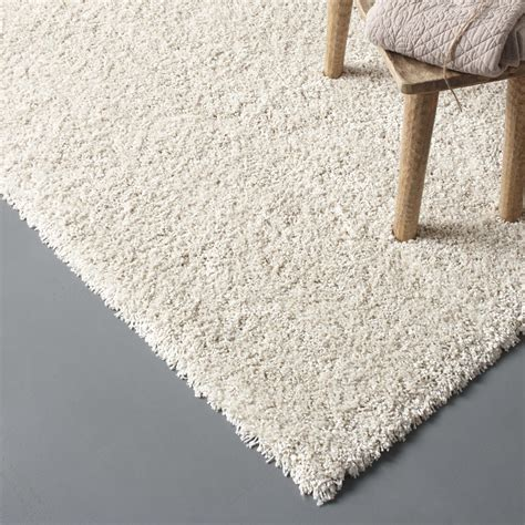 tapis de sortie de tapis beige shaggy lizzy l 160 x l 230 cm leroy merlin